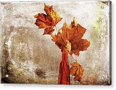 Acrylic Print featuring the photograph Atumn In A Vase by Randi Grace Nilsberg