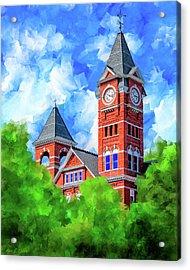 Memories Of Auburn - Samford Hall Acrylic Print