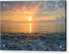 Acrylic Print featuring the photograph August Obx Sunrise by Barbara Ann Bell