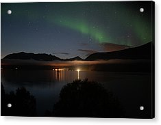 Aurora Northern Polar Light In Night Sky Over Northern Norway Acrylic Print