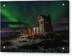 Aurora Over The Radio Station Acrylic Print