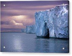 Austfonna Ice Cap Acrylic Print by Chase Dekker Wild-life Images