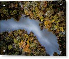 Autumn Arrives At The River Acrylic Print