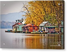 Acrylic Print featuring the photograph Autumn At Latsch Island by Kari Yearous