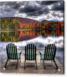 Acrylic Print featuring the photograph Autumn At The Lake by David Patterson