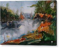 Autumn At The Lake Acrylic Print by Stefano Popovski