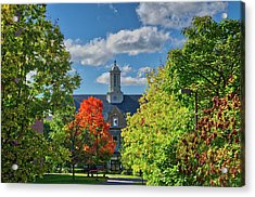 Acrylic Print featuring the photograph Autumn Beauty At Cornell University - Ithaca, New York by Lynn Bauer