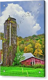 Acrylic Print featuring the photograph Autumn Bliss On The Farm - Finger Lakes, New York by Lynn Bauer