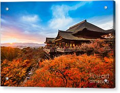 Autumn Color At Kiyomizu-dera Temple In Acrylic Print