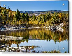 Acrylic Print featuring the photograph Autumn Cove At Ivie Pond by TL Mair