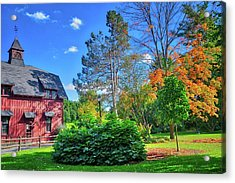 Acrylic Print featuring the photograph Autumn Days On Campus At Cornell University - Ithaca, New York by Lynn Bauer