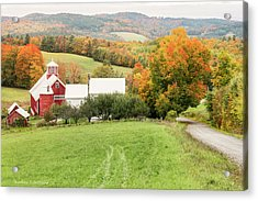 Acrylic Print featuring the photograph Autumn From The Bogie Mountain Farm - Vermont by Expressive Landscapes Fine Art Photography by Thom