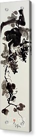 Autumn Grape Vine Painting Acrylic Print by Nadja Van Ghelue