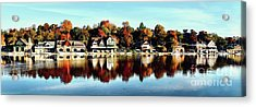 Autumn Houses Acrylic Print by Stacey Granger