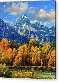 Autumn In Grand Teton Natoinal Park Acrylic Print by Ron thomas