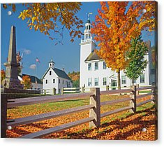 Autumn In New Hampshire Acrylic Print by Ron thomas