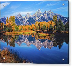 Autumn In The Snake River Valley Grand Acrylic Print by Ron thomas
