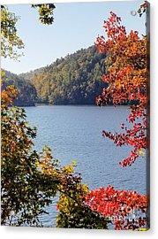 Acrylic Print featuring the photograph Autumn On The Lake by Rachel Hannah