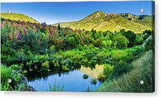 Acrylic Print featuring the photograph Autumn On The Little Deer Creek by TL Mair