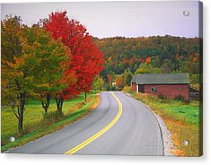 Autumn Road Acrylic Print by Denistangneyjr