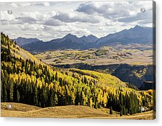 Acrylic Print featuring the photograph Autumn Season View Of Sneffles Ten Peak by James BO Insogna