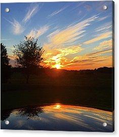 Autumn Sunset Acrylic Print
