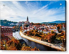 Autumn View On The Cesky Krumlov And Acrylic Print