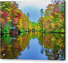 Acrylic Print featuring the photograph Autumn On Mirror Lake by Andy Crawford