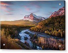 Awakening // Many Glacier // Glacier National Park  Acrylic Print