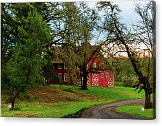Awe Those Country Roads Acrylic Print