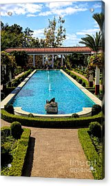 Awesome View Getty Villa Pool  Acrylic Print