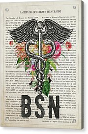 Bachelor Of Science In Nursing Graduation Gift Acrylic Print