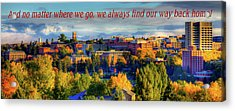 Acrylic Print featuring the photograph Back Home 3 by David Patterson