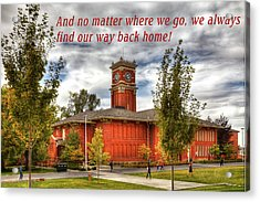 Acrylic Print featuring the photograph Back Home by David Patterson
