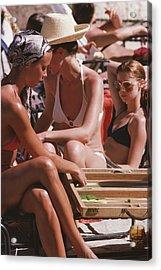 Backgammon By The Pool Acrylic Print