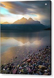 Backlit / Lake Mcdonald, Glacier National Park  Acrylic Print