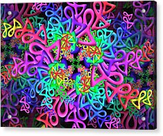 Acrylic Print featuring the digital art Bagel Remix by Vitaly Mishurovsky