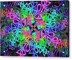 Acrylic Print featuring the digital art Bagel by Vitaly Mishurovsky