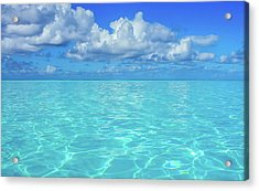 Acrylic Print featuring the photograph Bahama Blues, Half Moon Cay by Dawn Richards