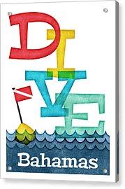 Bahamas Dive - Colorful Scuba Acrylic Print