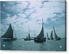 Bahamas Sailing Acrylic Print by Slim Aarons