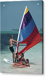 Bahamas Windsurfing Acrylic Print by Slim Aarons