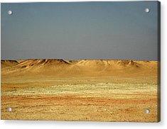 Acrylic Print featuring the photograph Baked Sahara Desert by Mark Duehmig