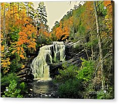 Acrylic Print featuring the photograph Bald River Falls In Autumn  by Rachel Hannah
