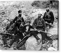 Balkan Soldiers Acrylic Print by Topical Press Agency