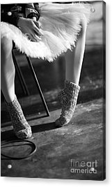 Ballerina Getting Ready To The Acrylic Print