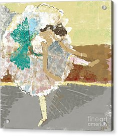 Ballerina In The Impressionist Style Acrylic Print