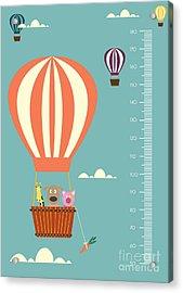 Balloon Cartoons ,meter Wall Or Height Acrylic Print