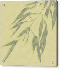 Bamboo Leaves 0580b Acrylic Print