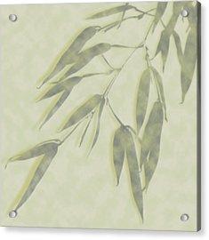 Bamboo Leaves 0580c Acrylic Print
